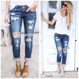 LAST ONE 💔 Blake Distressed Denim Jeans